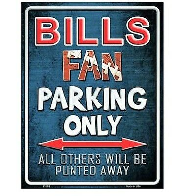 Fan Parking Sign - Buffalo Bills Fan Parking Only Novelty Metal Parking Sign 9