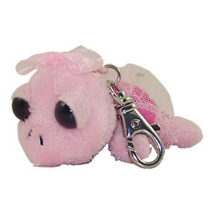 Russ-Plush-Lil-Peepers-BALLERINA-TURTLE-Pink-Backpack-Clip-3-inch
