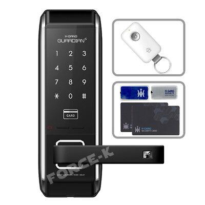 H-GANG TS700 Keyless Locks Smart Digital Doorlock Pin+4RFID+Remote Control Set