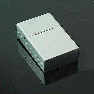 New-Travel-Magnetic-Aluminum-Cigar-Cigarette-Case-Pocket-Box-20-PCS-Silver