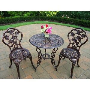 patio furniture iron bistro chairs table heavy duty durable patio new