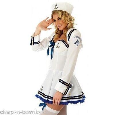 Ladies Sexy Sailor Military Uniform Fancy Dress Costume Outfit UK 8-30 Plus Size (Plus Size Military Costumes)