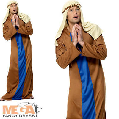 Joseph Mens Nativity Fancy Dress Christmas Xmas Festive Adult Costume Outfit New