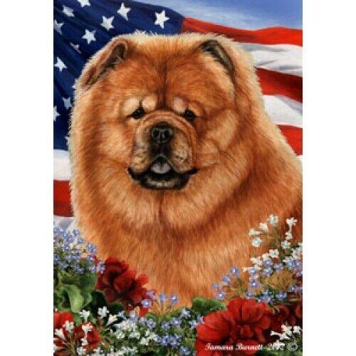 Patriotic (1) House Flag - Chow Chow 16114