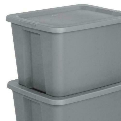 8 Plastic Storage Containers 18 Gallon Stackable Organizer T