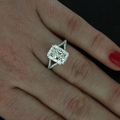 GIA Certified 2.02 Carat Radiant Cut Diamond Engagement Ring 18k White Gold 2