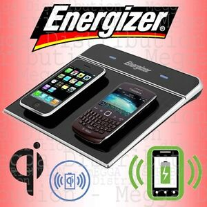 Energizer Dual Qi Wireless Charger Induction Charging Pad Mat + USB Port Station