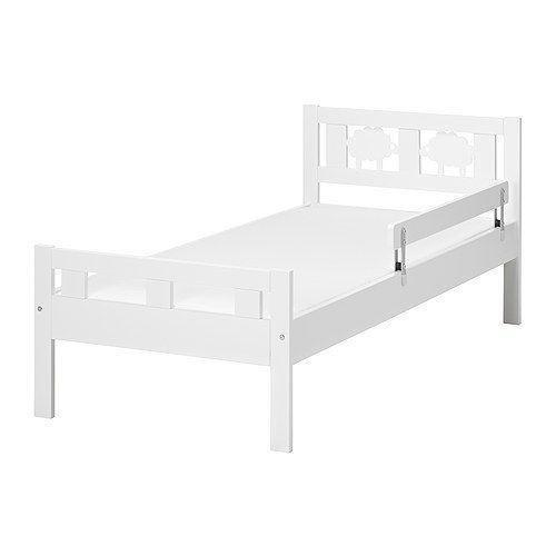 Junior Ikea Bed 160 X 70 Frame Foam Mattress Guard Rail And