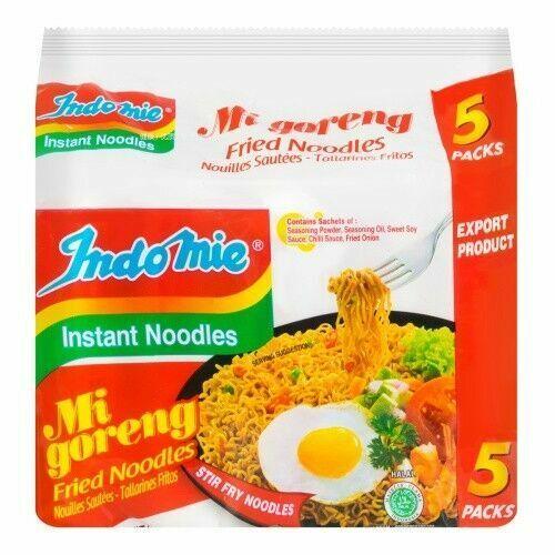 Indomie Instant Noodle 100%HALAL Mi Goreng FRIED NOODLES 5 packs 425g~Fast Ship