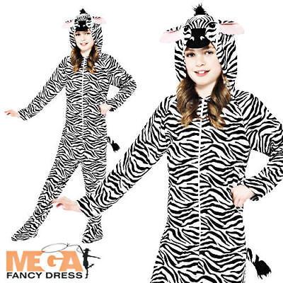 Zebra Animal Kids Fancy Dress Zoo Book Week Girls Boys Childrens Costume Outfit