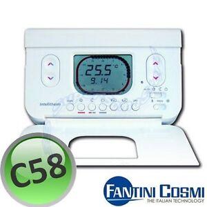 3s cronotermostato giornaliero c58 fantini e cosmi for Termostato fantini cosmi c31