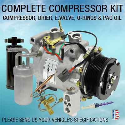 NEW AC KIT 11035 COMPRESOR ACCUMULATOR DRIER VALVE ORIFICE TUBE ORINGS PAG OIL