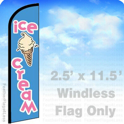 Ice Cream Windless Swooper Flag Feather Banner Sign 2.5x11.5 - Bf