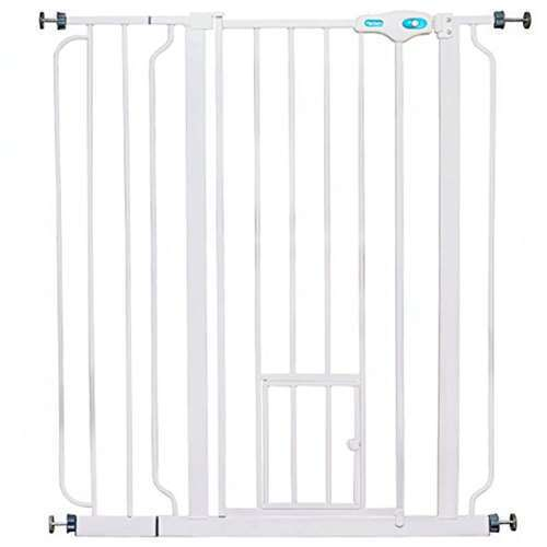 """Carlson Pet Products 36"""" Extra Tall Pet Gate w/ Lift Handle & Small Door (Used)"""