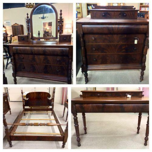 antique mahogany bedroom ebay 11494 | 3 jpg set id 2
