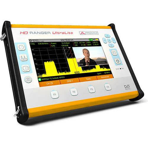 PROMAX HD RANGER UltraLite Tablet-Sized Field Strength Meter/Analyzer
