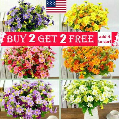 US Outdoor Flower Fake False Plants Grass Artificial Garden Daisy Decor  P - Daisy Decorations