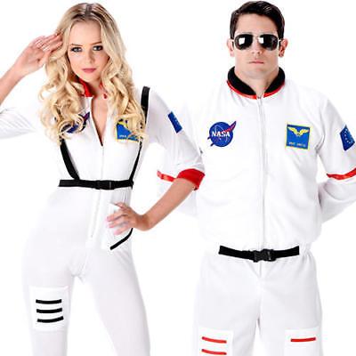 Astronaut Adults Fancy Dress Space Mission Uniform Occupation Mens Women Costume - Occupations Fancy Dress