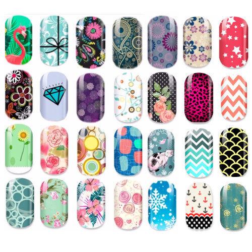 12 Nagelfolien Wraps Nail Aufkleber Nagel Wrap Sticker Full cover nailart NEU