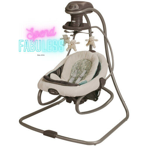 Graco DuetSoothe Baby Swing and Rocker with 2 Speed Vibratio