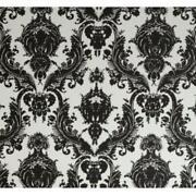 Damask Wallpaper Black