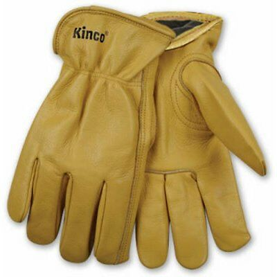 Kinco 98rl Mens Lined Cowhide Gloves Heat Keep Lining Keystone Thumb Golden