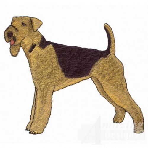 Embroidered Ladies Fleece Jacket - Airedale Terrier AD201  Sizes S - XXL
