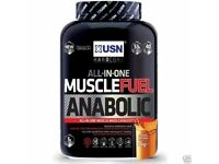 USN MUSCLE FUEL ANABOLIC 2KG ALL IN ONE PROTEIN POWDER & LEAN MUSCLE SHAKE