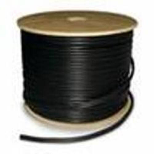 RG59 Siamese Direct Burial CCTV Cable 20 AWG 95 BC Braid 18/2 - 1000FT Black - $329.00