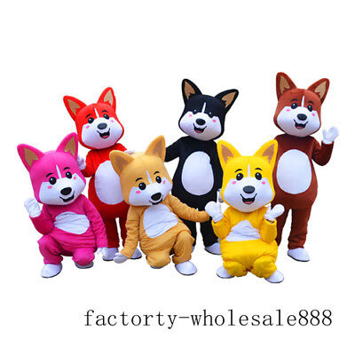 Husky Dog Mascot Costume Fox Adult Advertising Suit Unisex Outfit Parade Cosplay - Dog Fox Costume