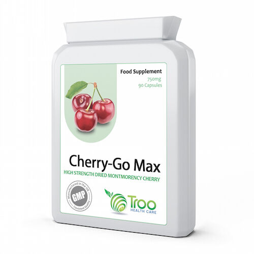 Cherry Max Montmorency 750mg x 90 Capsules Antioxidants Gout ,Joint pain relief