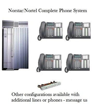 - Refurbished Norstar Compact ICS Phone System & 4 T7316e phones - complete system