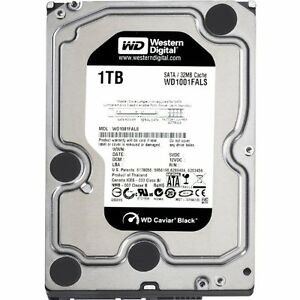 Western Digital Black WD1001FALS 1TB 7200 RPM 32MB SATA 3.0Gb/s