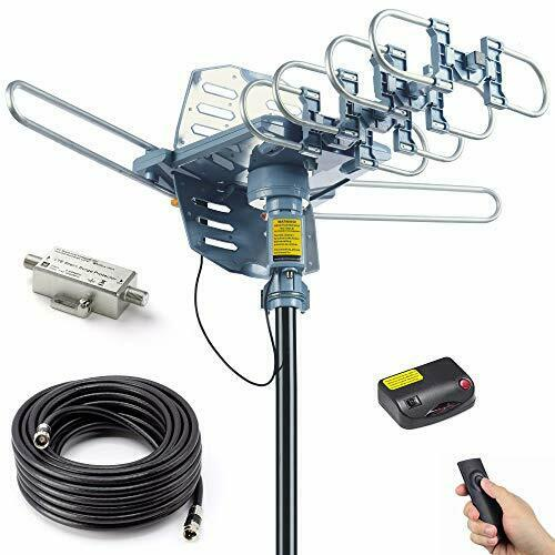 PBD Digital Amplified Outdoor HDTV Antenna with 40FT RG6 Cab