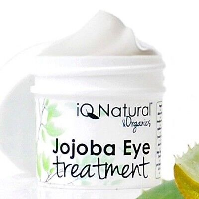 ALL NATURAL Eye Treatment Cream ANTI AGING Organic Jojoba Firm Smooth Wrinkles