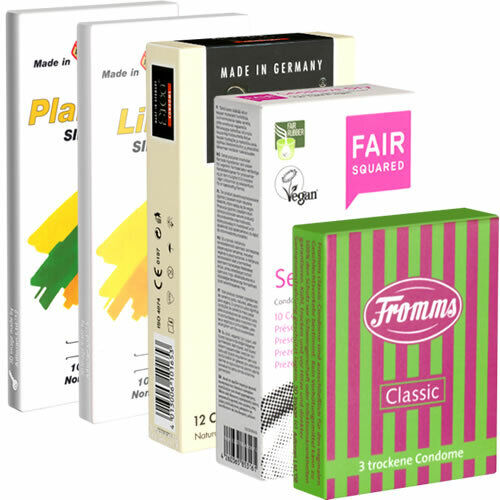 Frei Haus: Kondomotheke® Try Dry Mix, 45 trockene Kondome ohne Gleitgel, Testset
