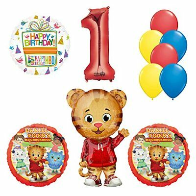 rhood 1st Birthday Party Supplies and Balloon Decorations (Daniel Tiger Birthday Party Supplies)