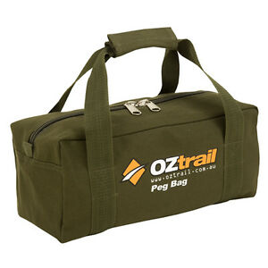 OZTRAIL-CANVAS-TENT-PEG-BAG-35x15x15cm-NEW