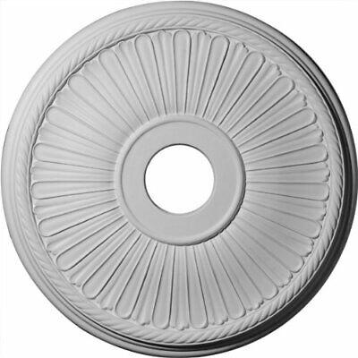 "Ekena Millwork CM20BE1 Berkshire Ceiling Medallion, 20 1/8""OD x 3 7/8""ID x 1"