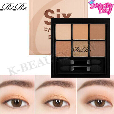 RiRe Smooth Six Eyes Palette Eye Shadow #BROWN BURN / Eye Makeup Made in korea