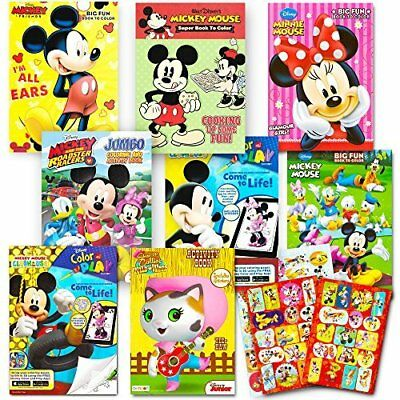 Disney Coloring Books For Kids Toddlers Bulk Set -- 8 Books