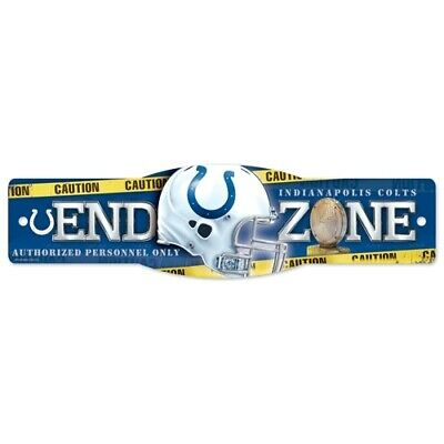Colts Decorations (INDIANAPOLIS COLTS ~ (1) NFL End Zone Wall Display 4 x 17 Street Sign)