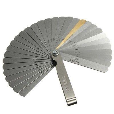 32 Spalte (32 Blatt Abstandslehre Fühlerlehre Ventillehre Fühllehre 0,04mm-0,88mm Spaltmass)