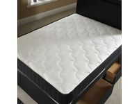 BRAND NEW DOUBLE DIVAN BED WITH LUXURY MEMORY FOAM MATTRESS
