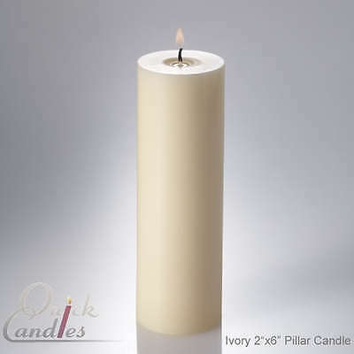 "Richland 2"" x 6"" Ivory Pillar Candles Set 10"