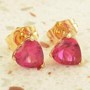 Gold Heart Shaped Earrings
