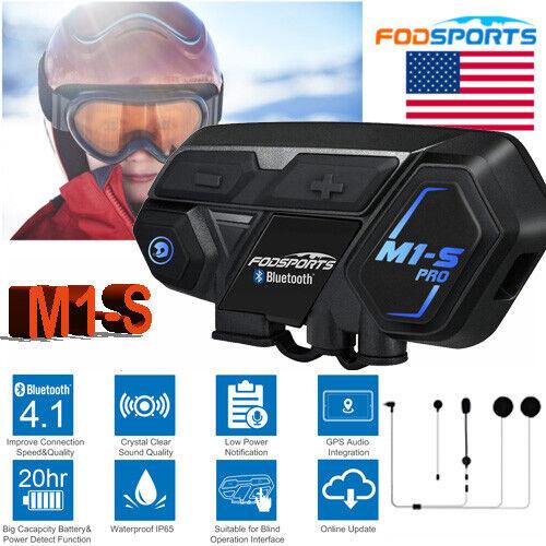 FODSPORTS 2000M M1-S PRO Motorcycle Helmet Intercom Headset Bluetooth Interphone