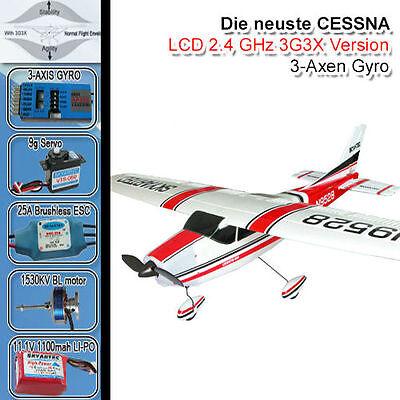 CESSNA 182 SKYLANE RC FLUGZEUG 3G3X RC BRUSHLESS/LIPO PIPER RTF READY TO FLY FZ2