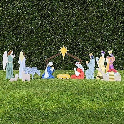 Complete Outdoor Nativity Set (Standard, Color)