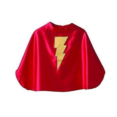Superfly Kids Red Superhero Cape with Yellow Lightning - Kids Red Cape